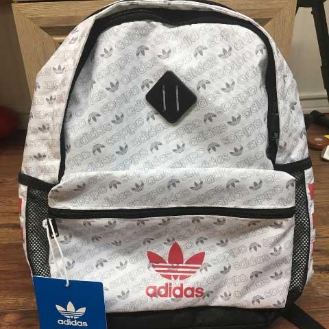 Balo Adidas hoa văn trắng