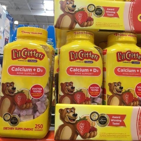 KẸO DẺO L'IL CRITTER CALCIUM + D3 Gummy vites